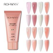 Rohwxy poli uv gel para extensão do prego 30/15 ml vernizes de construção do prego para manicure cristal unha gel polonês para ferramentas de design de arte