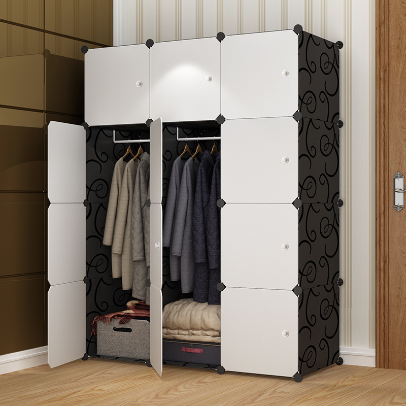 Simple wardrobe adult assembly resin wardrobe manufacturers direct sales of dormitory simple modern economic finishing cabinets