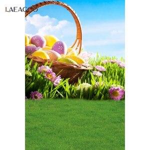 Image 5 - Laeacco אביב דיוקן תפאורות פרחי פריחת דשא אור Bokeh עץ רצפת תינוק יילוד צילום רקע Photozone