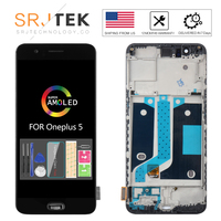 AMOLED For Oneplus A5000 LCD For OnePlus 5 Display Touch Digitizer Panel Glass For One Plus Five 1+5 Frame For One Plus 5 Screen