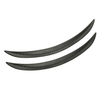 2pcs Universial Carbon Fiber Style Fender Flares Wheel Lip Body Kits Car Decoration Black Car Mudguard Mud Guard image