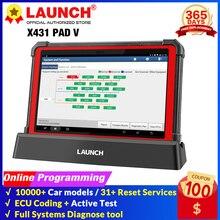 起動X431パッドvオンラインプログラミング自動車フルシステム診断ツール車OBD2コードリーダースキャナアクティブテストpk X431 v