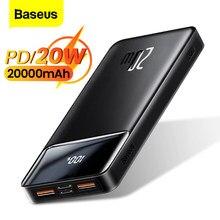 Baseus Power Bank 20000mAh PD 20W Portable Charging Charger External Battery Pack 20000 mAh Powerbank For Phone Xiaomi Poverbank