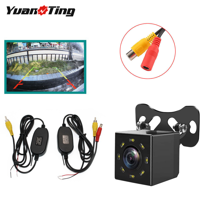 YuanTing Wireless Wide Angle Backup 8 Auto LED Night Vision Rear View Camera Waterproof Reversing Suitable for 12V Wired Screen|Vehicle Camera| - AliExpress