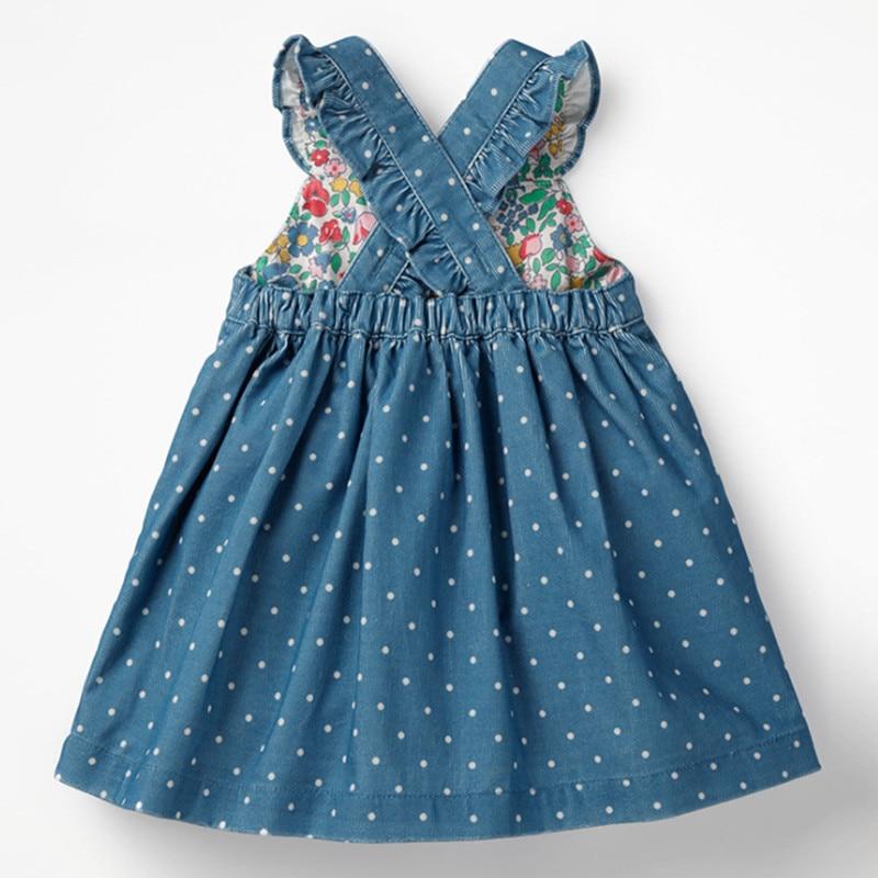 Little maven kids brand clothes 2019 autumn baby girls clothes Cotton FRUIT ANIMAL applique dot sundress girl sleeveless dresses 4