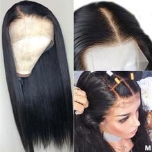 360 dentelle frontale perruque pré plumée avec des cheveux de bébé HD Transparent Remy brésilien droite 13x4 13x6 dentelle avant perruques de cheveux humains