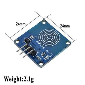 Image 2 - 5PCS TTP223 터치 키 스위치 모듈 터치 버튼 자동 잠금/잠금 없음 용량 성 스위치 단일 채널 재구성