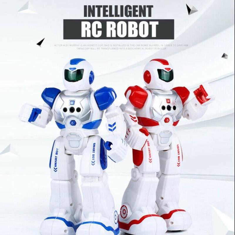 Bluetooth RC Robot Toy Mechanical Intelligent Robotics Dancing Singing Gesture Sensing Recording Robot Children Toys