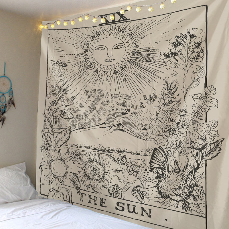 Tarot Card Tapestry Wall Hanging Astrology Divination Tapestries For Home Deco Living Room Bedroom Wall Art
