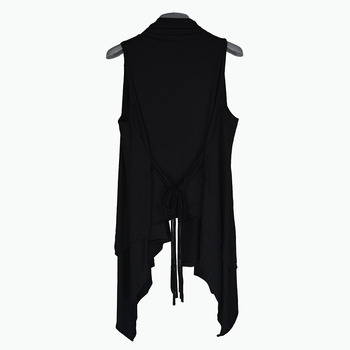 Summer Sleeveless Vest Non-mainstream Nightclub Hairdresser Casual Long Personality Black Male Korean Version of The Thin - discount item  50% OFF Tops & Tees