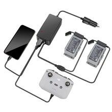 Автомобильное зарядное устройство для DJI Мавик воздуха 2 зарядки аккумулятора хаб Мавик воздуха 2 быстрое зарядное устройство автомобильное зарядное устройство разъема с 2 портами USB