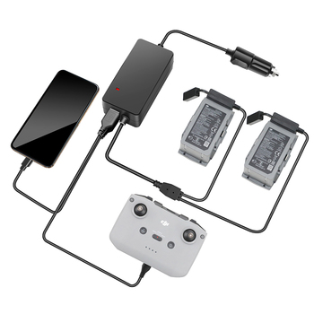 Car Charger For DJI Mavic Air 2 Battery Charging Hub Mavic Air 2 fast Charger Battery Car charger Connector with 2 USB ports