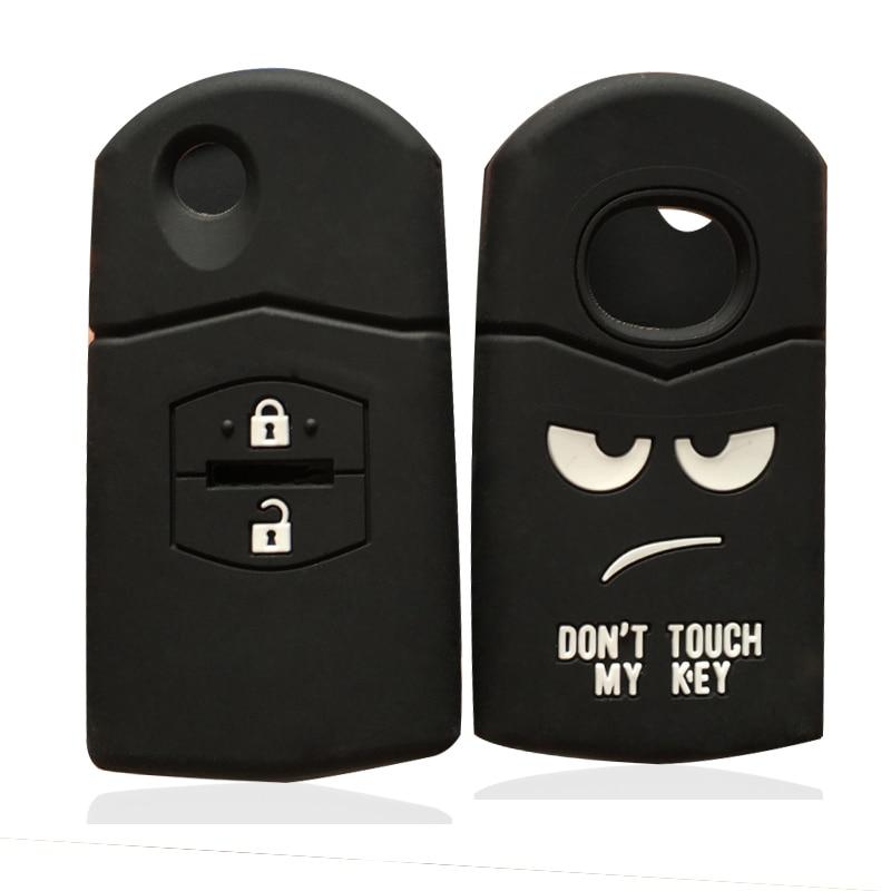 Key Holder Car Key Cover Case Fit For Mazda 2 3 5 6 CX7 CX9 RX8 MX5 MPV Demio New Car Silicone 2 Button Remote Flip Key Case