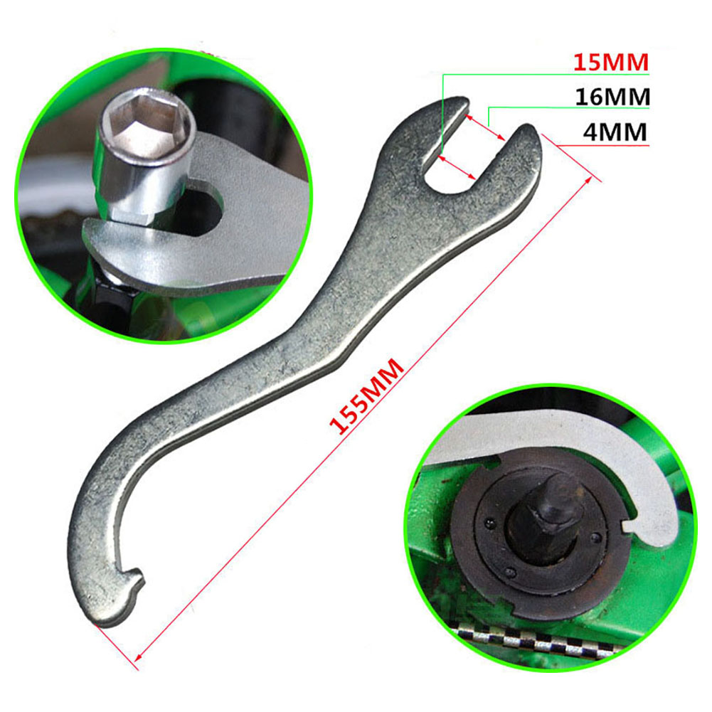 Bicycle Spanner Pedals Wrench Tool Cycling Sport 2 in 1 15mm//16mm Practical