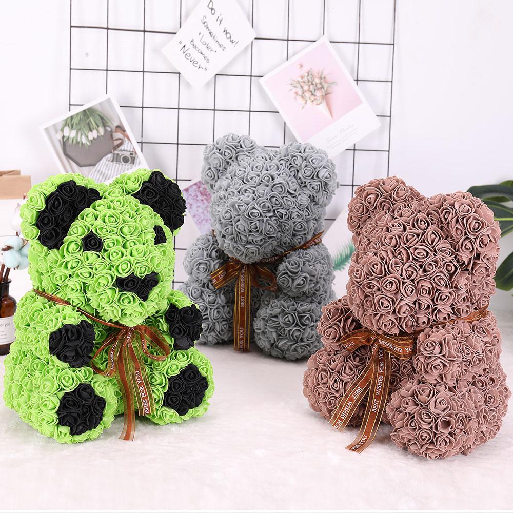 Купить с кэшбэком Artificial Flowers 500 Pieces Teddy Bear Fitting of Roses 3cm Foam Wedding Decorative Flowers Christmas Decor for Home Diy Gifts
