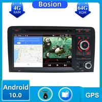 2 Din PX6 Car Multimedia PlayerAndroid 10.0 For Audi A3 2003 2011 car dvd player autoradio stereo audio free map canbus camera