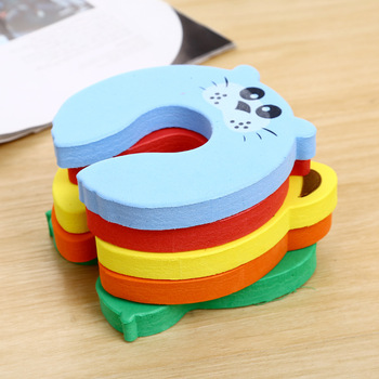 1 Pc Safety Security Door Stopper Baby Card Lock Newborn Care Child Finger Protector Infant Cute Animal Corner Guards 6