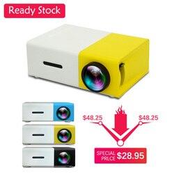 YG300 Led Mini Projector Ingebouwde 1300 Mah Batterij 320X240 Pixels Ondersteunt 1080P Draagbare Projector Thuis media Player