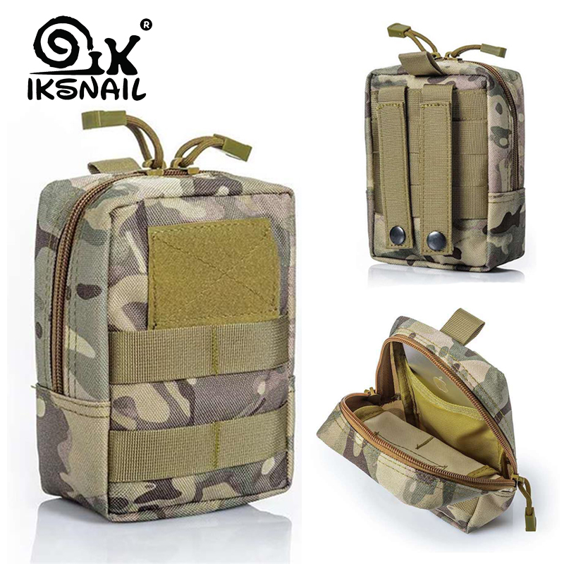 IKSNAIL Military Tactical Sport Bag Multifunctional Tool Pouch EDC Springs Hinge Hunting Durable Belt Pouches Packs Outdoor New