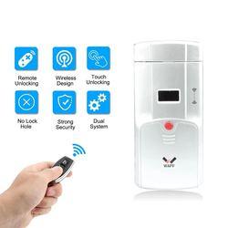 WAFU 011A zabezpieczenie przed kradzieżą blokada zdalnego sterowania blokada domu bez blokady inteligentny zamek elektroniczny instalacja wewnętrzna