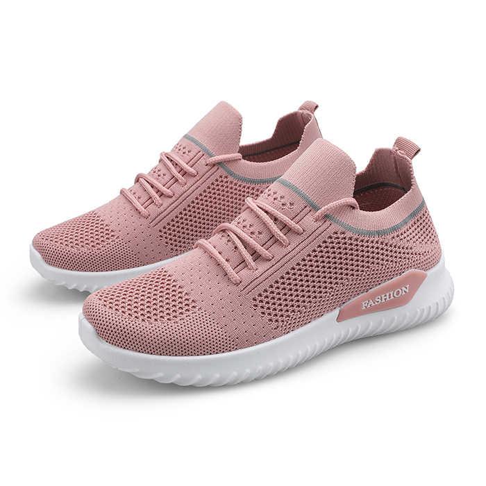 Moipheng Bãi Dành Cho Nữ Giày Mùa Xuân 2020 Sock Sneakers Nữ Mùa Hè Phối Ren Đế Bằng Nữ Plus Kích Thước Đi Tenis Feminino