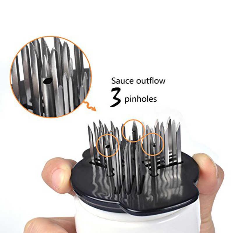 Jadeshay Meat Tenderizer-Meat Injector Marinade Flavor Syringe Needle Injector Steaks Flavor Syringe Cook Kitchen Tool