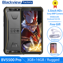 "Blackview BV5500 Pro Smartphone IP68 Waterproof 5.5"" HD+ Android 9.0 3GB RAM 4G Mobile Phone 8.0MP Camera NFC Rugged Cell Phone(China)"