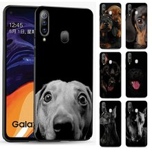 Silicone Phone Case for Samsung Galaxy J4 Core J6 Plus or J7Duo J8 Cover Dachshund dog face(China)