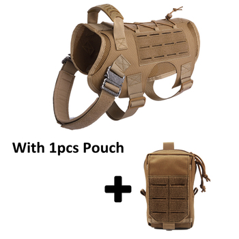 Tactical Dog Vest Military Hunting Shooting Cs Army Service Dog Vests Nylon Pet Vests Airsoft Training Molle Dog Vest Harness 7