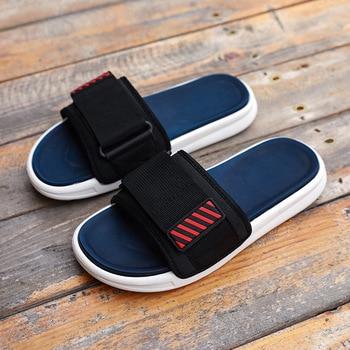 Mazefeng Summer Men Slides Slide Slippers Home Indoor Shoes House Beach Outside Slipers Slipper Sleepers Soft Hot Sale Big Size