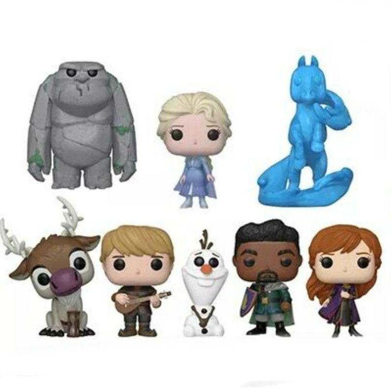 1PC 2019 Genuine Disney Frozen 2 Cute Elsa Anna Kristoff Olaf Sven Dolls Figure Toy Cake Decoration KIDS Birthday Christmas Gift