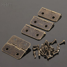 Vintage Hinges House-Furniture Closet Cabinet Dollhouse with Screws 4-Holes for Brass
