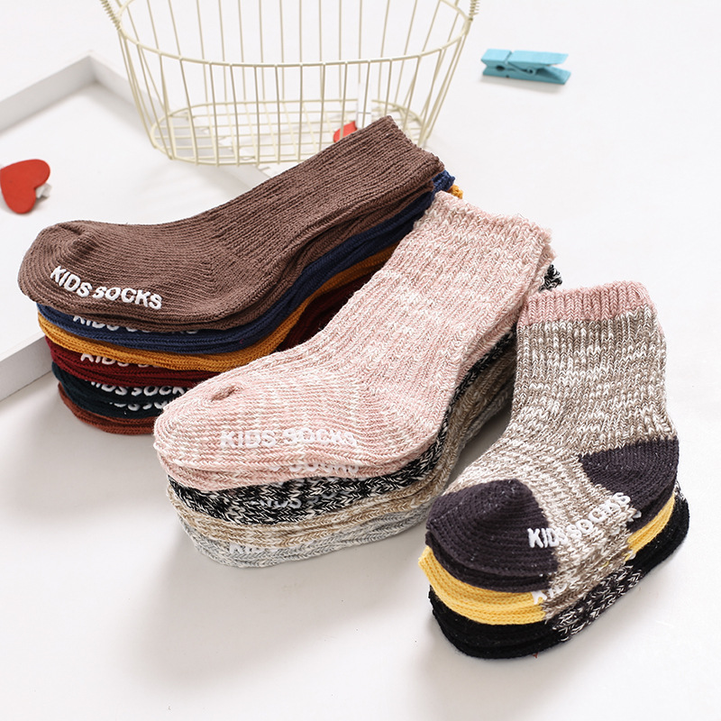 Thicken Non-slip Baby Socks Autumn Winter Socks Warm Toddler Boy Girls Floor Sock Infant Clothing Accessories For 0-4 Years Kids