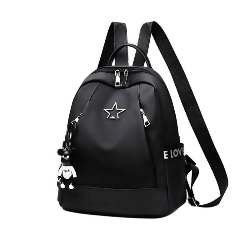 New Fashion Women Ladies Girls Backpacks Oxford Cloth Waterproof Rucksack Ladies Girls Zipper Soft Bag Casual Backpacks