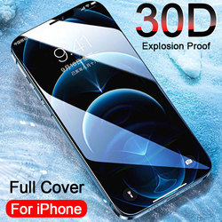30D Protective Glass on the For iPhone 11 12 Pro Max Screen Protector Tempered Glass iPhone 6S 7 8 Plus X XR XS Glass Full Cover