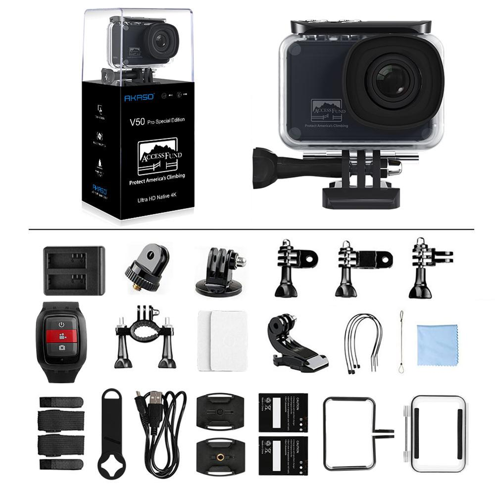 AKASO V50 Pro SE Action Camera 4K60 Waterproof Camera Sports Cam Leave No Trace Special Edition EIS Touch Screen Remote Control