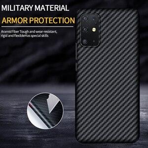 Image 2 - GRMA lüks gerçek saf karbon Fiber kapak için SAMSUNG Note20 S20 Ultra S10 artı S10e kılıf Samsung Galaxy Z flip SM F7000 kılıfı