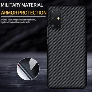 Image 2 - Grma Luxe Echte Pure Carbon Fiber Cover Voor Samsung Note20 S20 Ultra S10 Plus S10e Case Voor Samsung Galaxy Z flip Sm F7000 Case