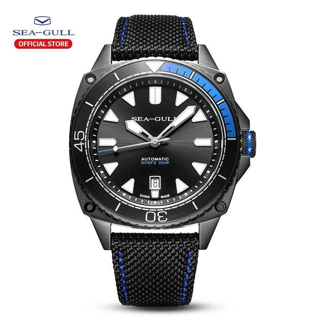 Mewa wodoodporny zegarek męski wielofunkcyjny luminous czas wolny sport nowy automatyczny zegarek mechaniczny 6057H seria morskich