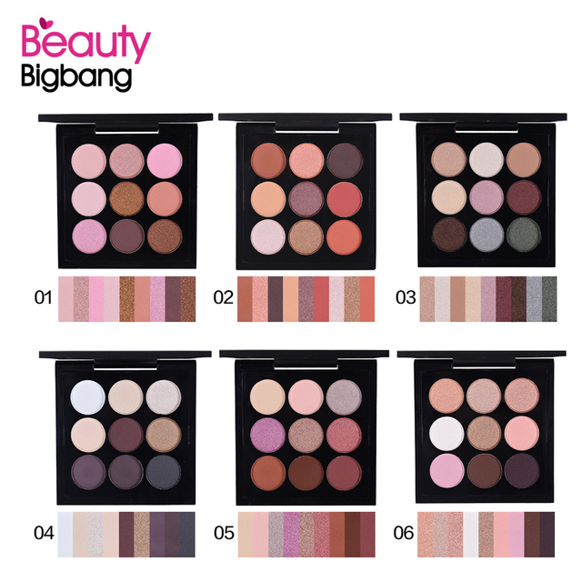 Beauty BigBang 9 Colors Eyeshadow Makeup Pallete Matte Shimmer Maquiagem Glitter Eye Shadow Cienie Do Powiek 2