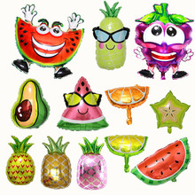Birthday-Party-Toy Decoration Watermelon Pineapple Inflatable-Ball Fruit-Shop Strawberry