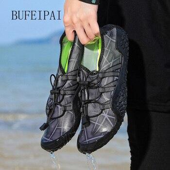 BUFEIPAI Aqua Shoes Men Men Beach Shoes For Women Upstream Shoes Breathable Hiking Sport Shoe Quick Dry River Sea Water Sneakers
