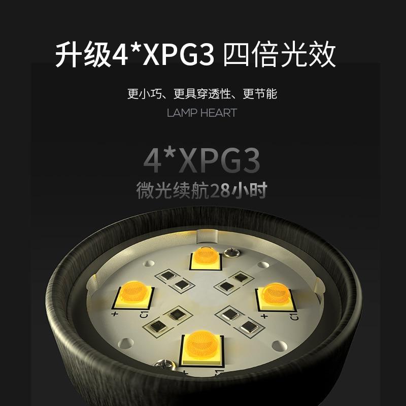 Pequeña linterna LED de tiburón sonriente conveniente para la antorcha multifunción recargable de alta potencia - 3