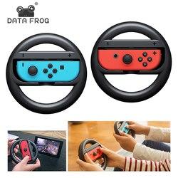 DATA FROG 2 szt. Kierownica do gier wyścigowych na przełącznik do Nintendo Remote Helm koła do gier Nintendo Switch NS Controller