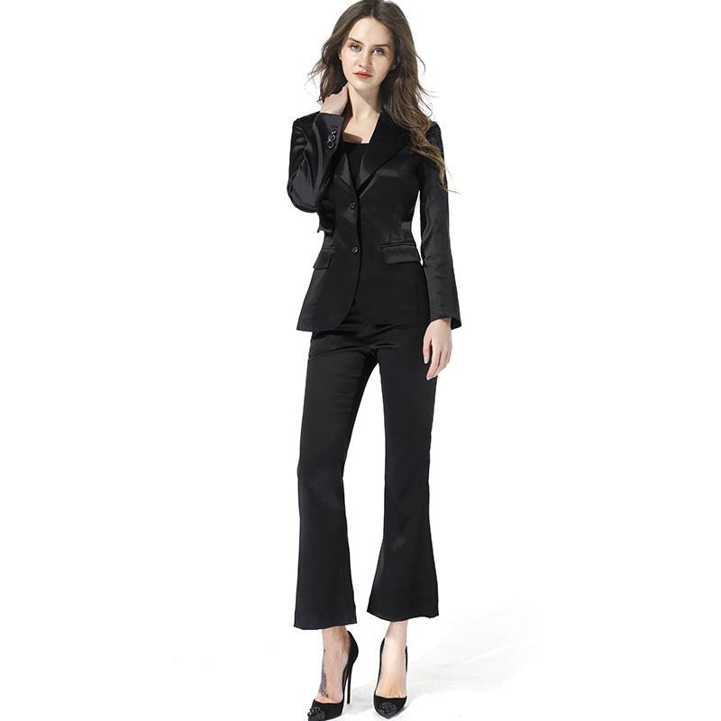 USPECIAL European And American Fashion And Leisure Professional Suit Female Temperament Ol Suit Female Overalls Two Sets