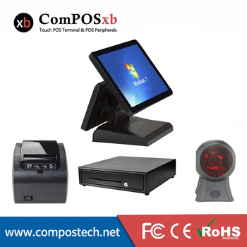 Best Quality pos system Dual Display store POS All in one windows all in one POS pc for sale
