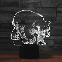 Lamp Best-Night-Light Hologram 3D for Home-Deco Gift Illusions Black Bear 7-Colors