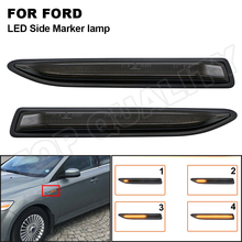 Smoked Dynamic LED Side Marker Light Amber Turn Signal Blinker Lamp For Ford Mondeo Mk4 Hatchback Saloon Estate (BA7) 2007 2015