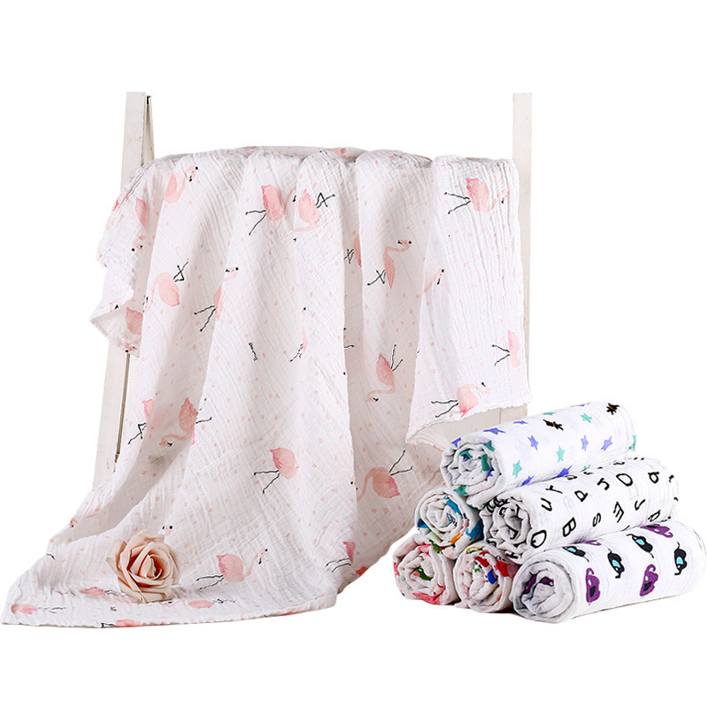1Pcs Cotton Baby Blankets Newborn Soft Organic Cotton Baby Blanket Muslin Swaddle Wrap Feeding Burp Cloth Towel Scarf Baby Stuff