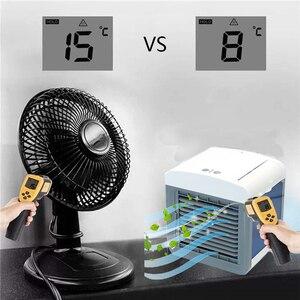 Image 2 - Ventilador enfriador de aire acondicionado humidificador ventilador de enfriamiento Mini USB mesa de escritorio portátil Dropshipping 10 15 días llegar a EE. UU. UE FA